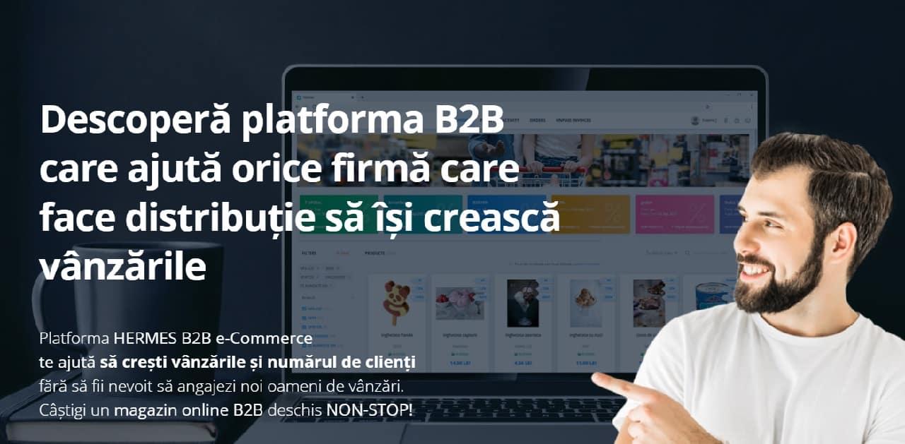 platforma B2B e-commerce HERMES pentru afaceri de distrbutie