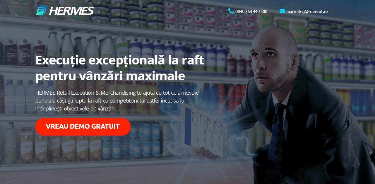 Hermes Retail Execution and In-store Merchandising software from Transart