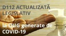 D112, Stare D112 - declaratia 112 actualizată legislativ la OUG Covid-19