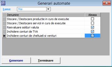soft  Contabilitate Generari automate