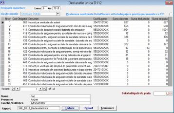 soft Salarizare declaratie D112